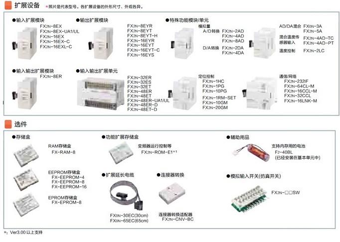 三菱PLC-FX2N扩展模块