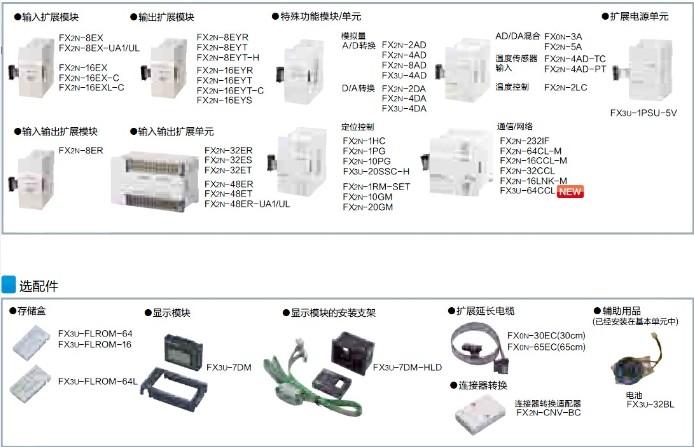 三菱PLC-FX3U扩展模块